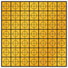 30mm Retro-Mark - Amber (sheet of 49)
