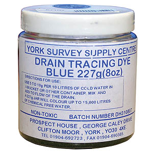 8oz (227g) Powder Drain Dye - Blue