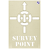 Survey Point Stencil 300 x 400mm