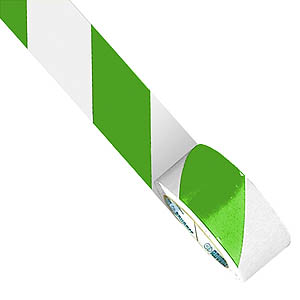 33m x 50mm Floor Tape - Green/White