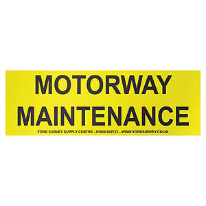 Vehicle Sign - 'Motorway Maintenance' Magnetic - 600 x 200mm