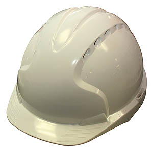 Vented Safety Helmet - White