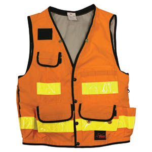 Orange Utility Vest - Extra Large