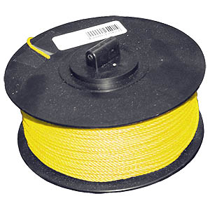 200m Braided Nylon Line - Yellow