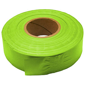 30mm x 46m PVC Flagging Tape - Green Glo