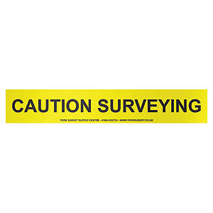 Vehicle Sign - 'Caution Surveying' Magnetic - 600 x 100mm