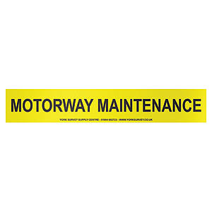 Vehicle Sign - 'Motorway Maintenance' Vinyl - 450 x 75mm