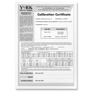 Calibration Certificate - Sound Meters