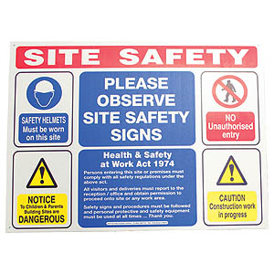 Site-Board Site Safety - 3mm Foamex
