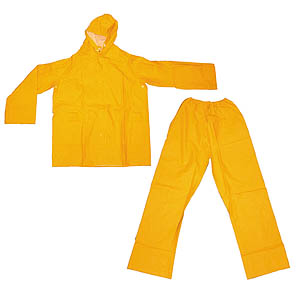 2 Piece Yellow Wetsuit - Large