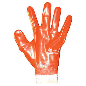 Red PVC Work Gloves