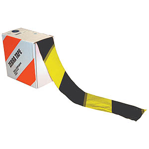 500m Hazard Tape - Black/Yellow