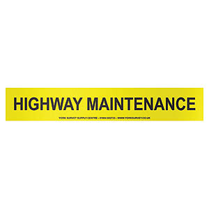 Vehicle Sign - 'Highway Maintenance' Magnetic - 600 x 100mm
