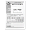 Trumeter Factory Calibration Certificate