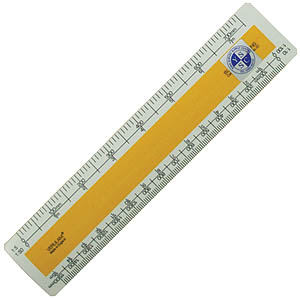 150mm No. 4 Oval Metric Scale Rule