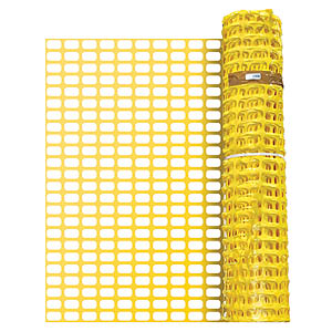 Barrier Fencing - Yellow - 50m Roll